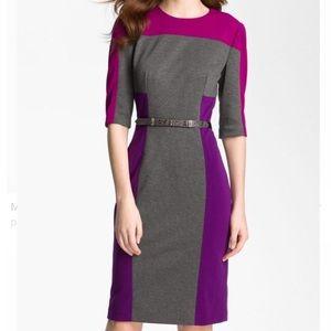 Maggy London Colorblock Ponte Sheath Dress